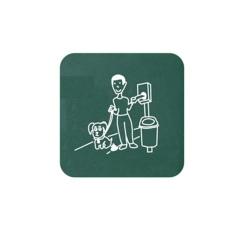 Plaque signalétique pour distributeur de sachet hygiène canine