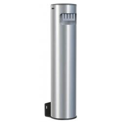 Cendrier colonne mural en aluminium brossé 5 L