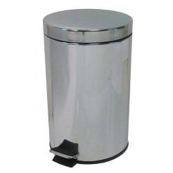 Lot de 2 poubelles  à pédale inox brillant 12 L