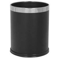 Lot de 4 poubelles interieures 10 L noire
