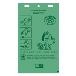 Lot de 600 canisacs bio compostables verts