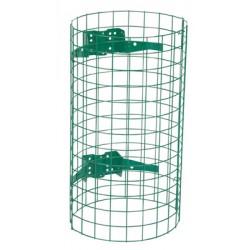 Entourage grille acier pour support sac Nice vert