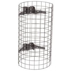 Entourage grille acier pour support sac Nice gris manganèse