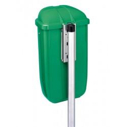 Poteau pour corbeille plastique Quimper 50L