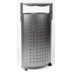 Corbeille Bayonne 100% métal 85L à couvercle basculant