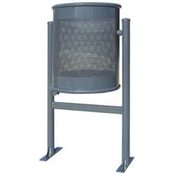 Corbeille Aconit basculante acier 60L
