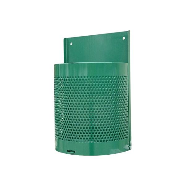 Corbeille Paquerette 30L tôle perforée à clé