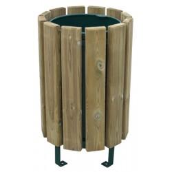 Corbeille Tonquédec bois autoclave 80 L avec seau