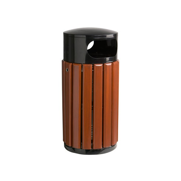 Corbeille bois et métal Canberra avec seau 60L