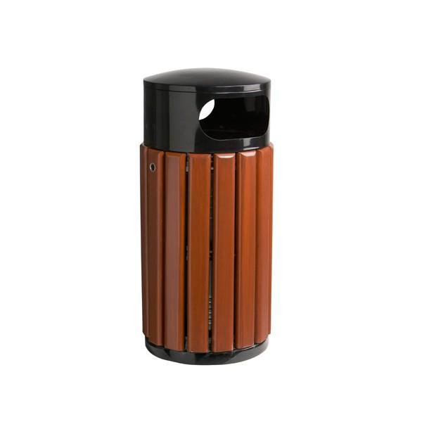 Corbeille bois et métal Canberra avec seau 40L