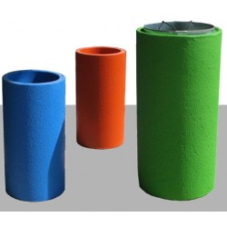 Corbeille Kumquat en béton ronde 110L béton coloré