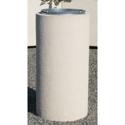 Corbeille Kumquat en béton ronde 110L ton sable