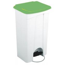 Collecteur JVD à pédale HACCP couvercle vert 90 L