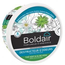 Lot de 6 boites 300g de gel destructeur d'odeurs the vert et aloé vera Boldair