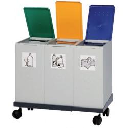 Chariot 101/141 pour poubelle tri sélectif