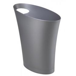 Corbeille à  papier polypropylène Tendance 7,5L silver