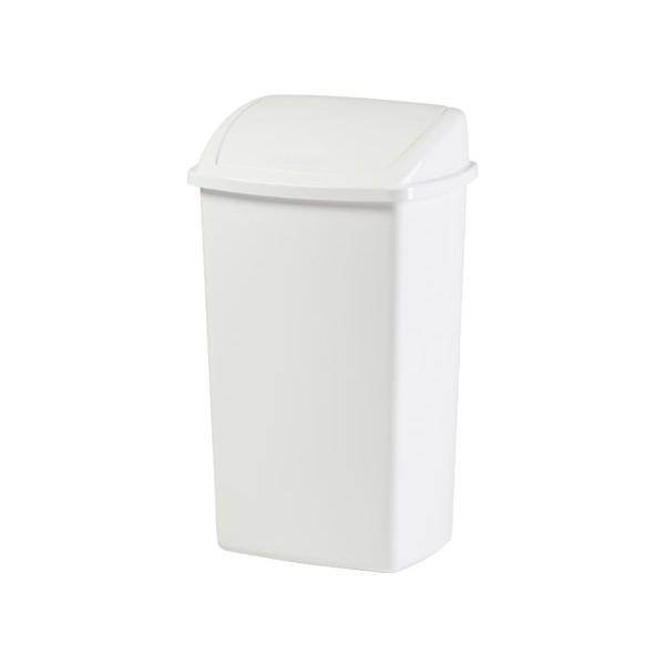 Le lot de 12 poubelles plastique avec couvercle à bascule 50L blanc