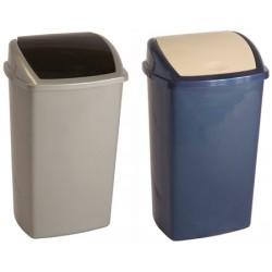 Le lot de 12 poubelles plastique avec couvercle à bascule 50L autres coloris