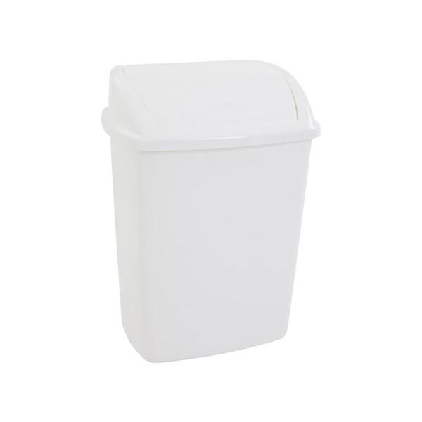 Le lot de 24 poubelles plastique avec couvercle à bascule 26L