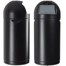 Poubelle intérieure et extérieure ROSSIGNOL 52L à clapet noir