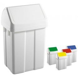 Lot de 4 poubelles polypropylène couvercle basculant 12L