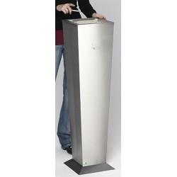 Cendrier vase inox base inox 31 X 31 X H 110 cm