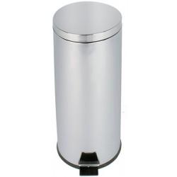 Poubelle JVD à pédale 30 L inox miroir