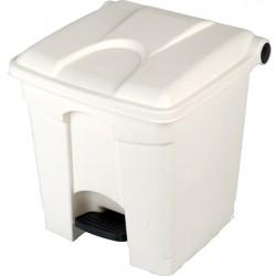 Collecteur JVD à pédale HACCP 30 L couvercle blanc
