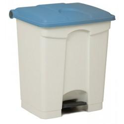 Collecteur JVD à pédale HACCP 30 L couvercle bleu