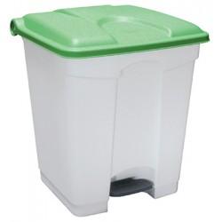Collecteur JVD à pédale HACCP 30 L couvercle vert