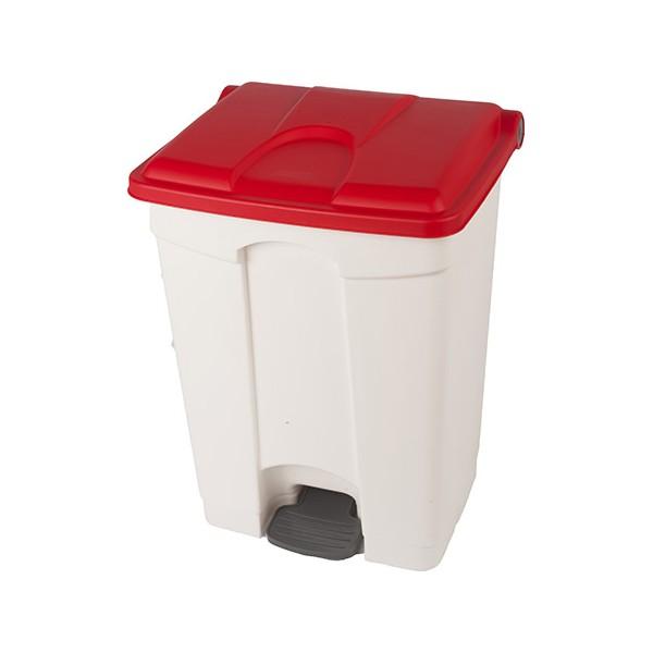 Collecteur JVD à pédale HACCP 90 L couvercle rouge
