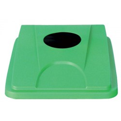 Couvercle vert pour collecteur tri selectif 60 L et 80 L