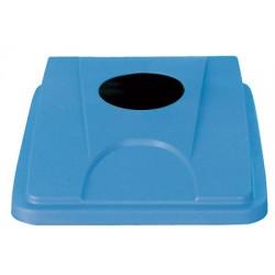 Couvercle bleu gobelets et cannettes pour collecteur tri selectif 60 L et 80 L
