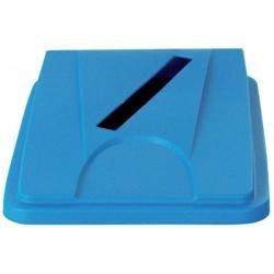 Couvercle bleu papier pour collecteur tri selectif 60 L et 80 L