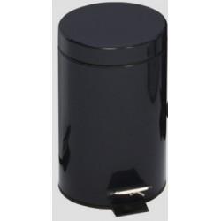 Poubelle à pédale 3L coloris noir
