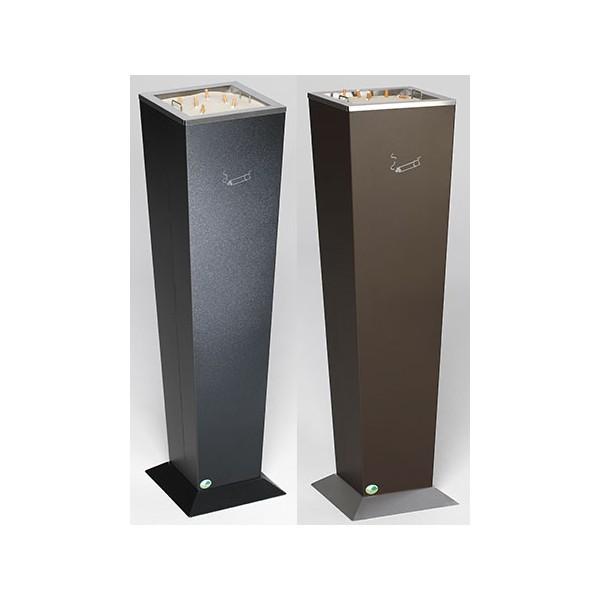 Cendrier vase acier base inox 31 X 31 X H 110 cm