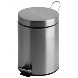 Lot de 4 poubelles à pédale inox mat 5 litres